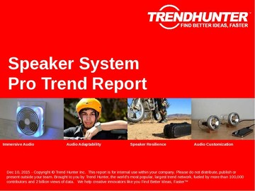 Speaker System Trend Report and Speaker System Market Research