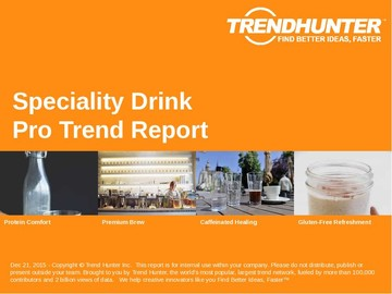 Speciality Drink Trend Report and Speciality Drink Market Research