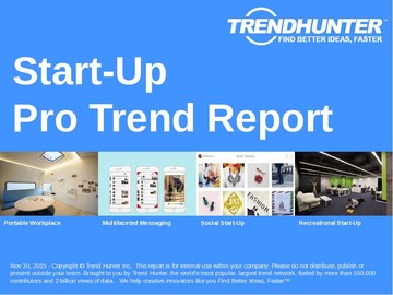 Start-Up Trend Report and Start-Up Market Research