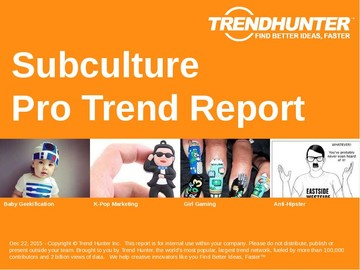 Subculture Trend Report and Subculture Market Research