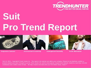 Suit Trend Report and Suit Market Research