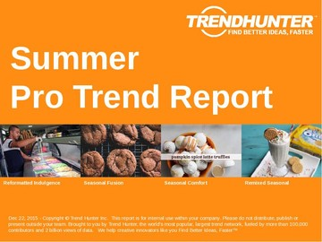 Summer Trend Report and Summer Market Research
