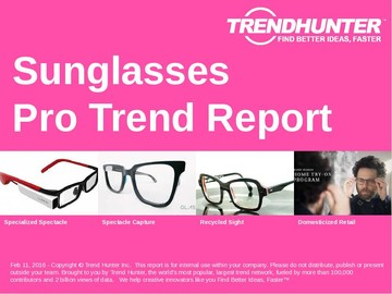 Sunglasses Trend Report and Sunglasses Market Research