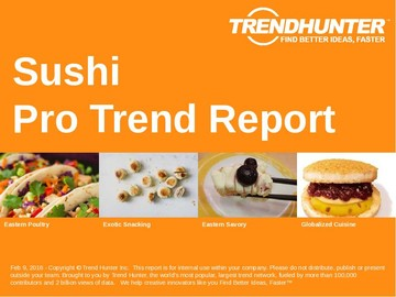 Sushi Trend Report and Sushi Market Research