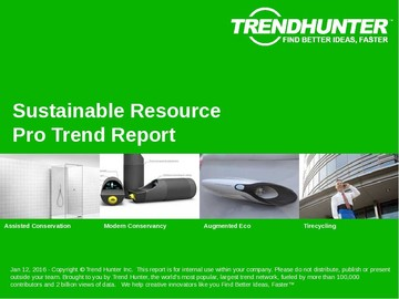 Sustainable Resource Trend Report and Sustainable Resource Market Research