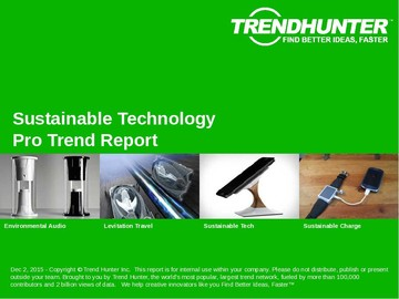 Sustainable Technology Trend Report and Sustainable Technology Market Research