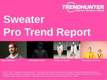 Sweater Trend Report and Sweater Market Research