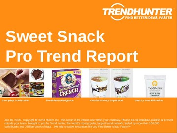 Sweet Snack Trend Report and Sweet Snack Market Research