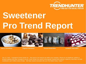 Sweetener Trend Report and Sweetener Market Research