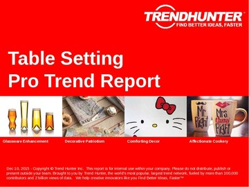 Table Setting Trend Report and Table Setting Market Research