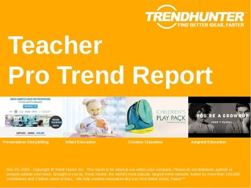 Teacher Trend Report and Teacher Market Research