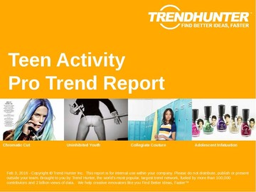 Teen Activity Trend Report and Teen Activity Market Research