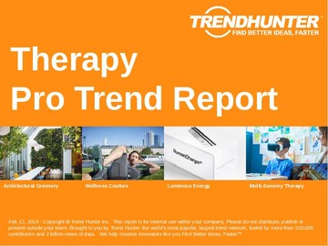 Therapy Trend Report and Therapy Market Research