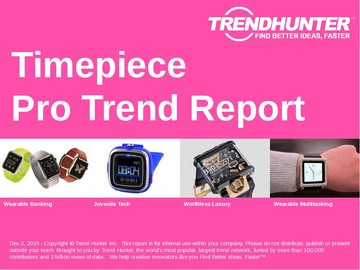 Timepiece Trend Report and Timepiece Market Research