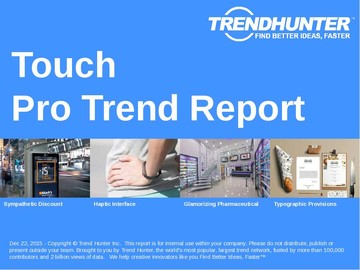 Touch Trend Report and Touch Market Research