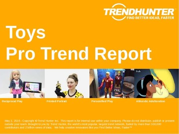 Toys Trend Report and Toys Market Research