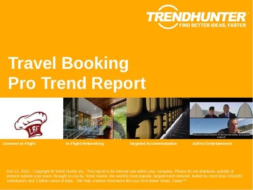 Travel Booking Trend Report and Travel Booking Market Research