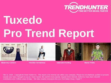 Tuxedo Trend Report and Tuxedo Market Research