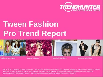 Tween Fashion Trend Report and Tween Fashion Market Research