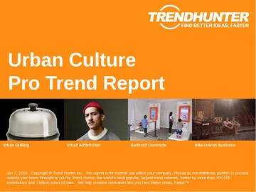 Urban Culture Trend Report and Urban Culture Market Research