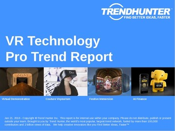 VR Technology Trend Report and VR Technology Market Research