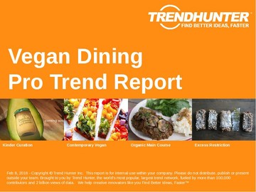 Vegan Dining Trend Report and Vegan Dining Market Research