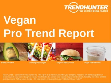 Vegan Trend Report and Vegan Market Research
