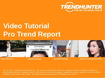 Video Tutorial Trend Report and Video Tutorial Market Research