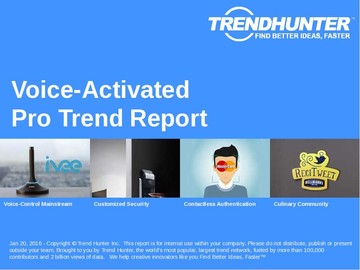 Voice-Activated Trend Report and Voice-Activated Market Research