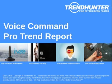 Voice Command Trend Report and Voice Command Market Research