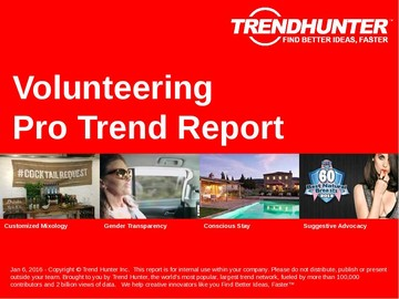 Volunteering Trend Report and Volunteering Market Research