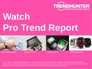 Watch Trend Report and Watch Market Research