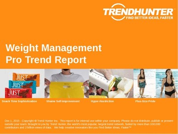 Weight Management Trend Report and Weight Management Market Research
