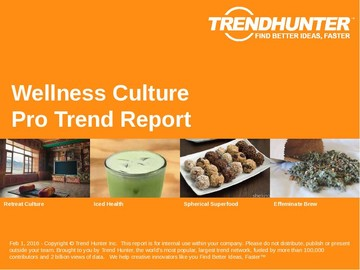 Wellness Culture Trend Report and Wellness Culture Market Research