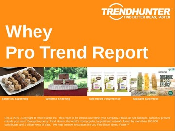 Whey Trend Report and Whey Market Research