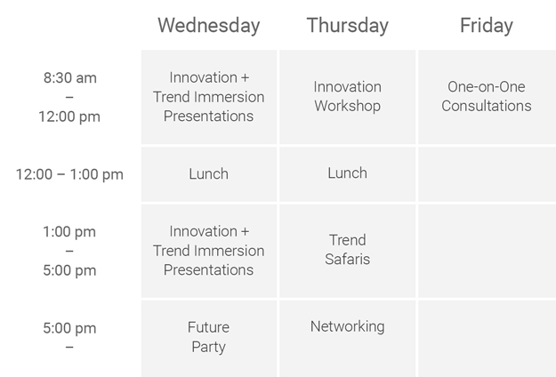 Trends & Innovation Conference Agenda