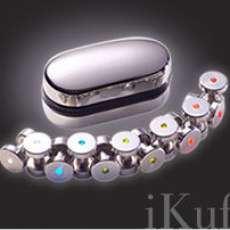 iKuffs Stainless Steel Cufflinks with Neon Lights