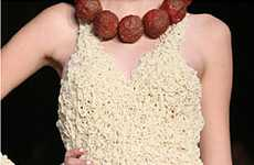 Edible Couture - Spaghetti and Meatball Dress Leaves Fashionistas Hungry-Eyed