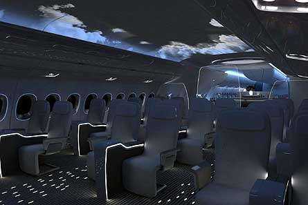 Airbus A350 with BMW Designed Interior
