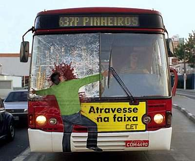 Shock Advertising - Pedestrian Safety Ad in Brazil