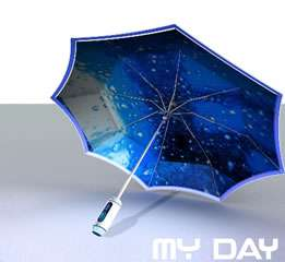 My Day Electronic Paper Umbrella