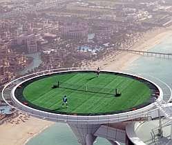 Helipad Tennis - Burj Al Arab Hotel Converts Rooftop Landing Into a Green Glory