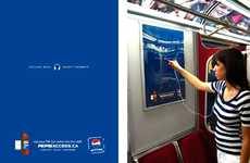 Interactive Pepsi Transit Ads