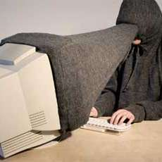 Computer Hood Privacy Scarf