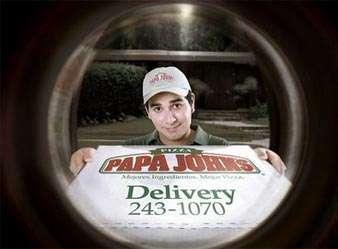 Papa John's Guerilla Ad