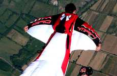 Landing Without a Parachute - Bird Man Suits