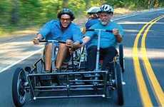 Human Car - a Bicycle Built For Four