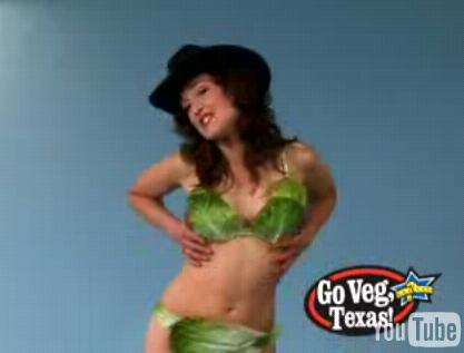 Vigilante Ads - Lettuce Lady Responds To PETA Ad Ban in Texas