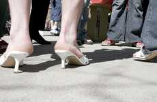 Men in High Heels Walking for C...