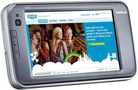 Skype-Enabled WiFi Internet Tablet - Nokia N810